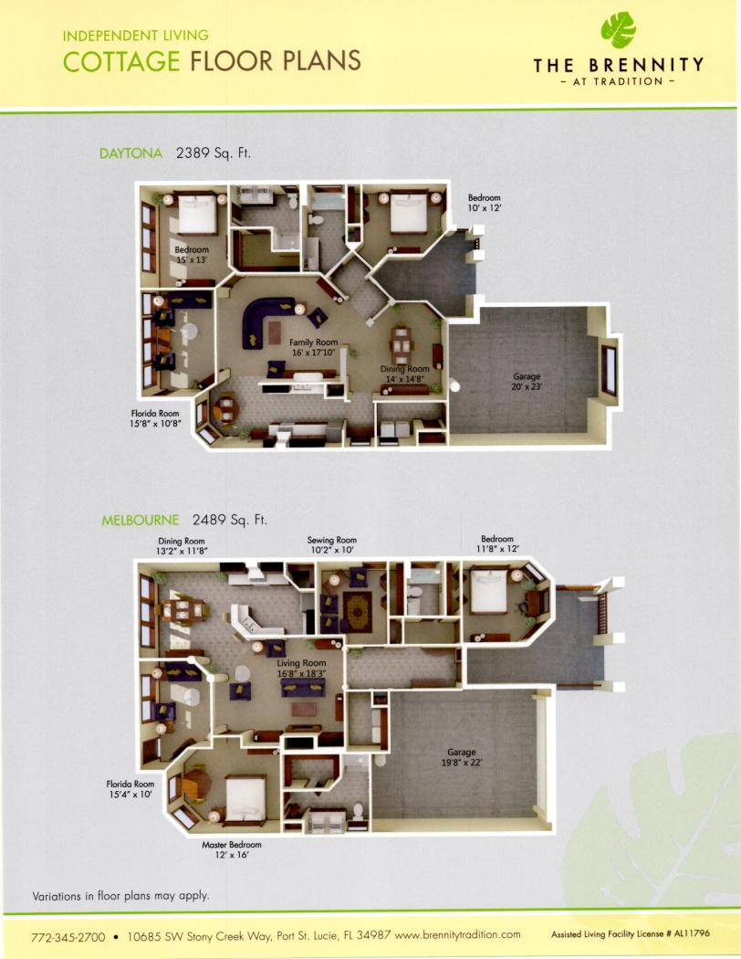 Brennity Cottage Floorplans