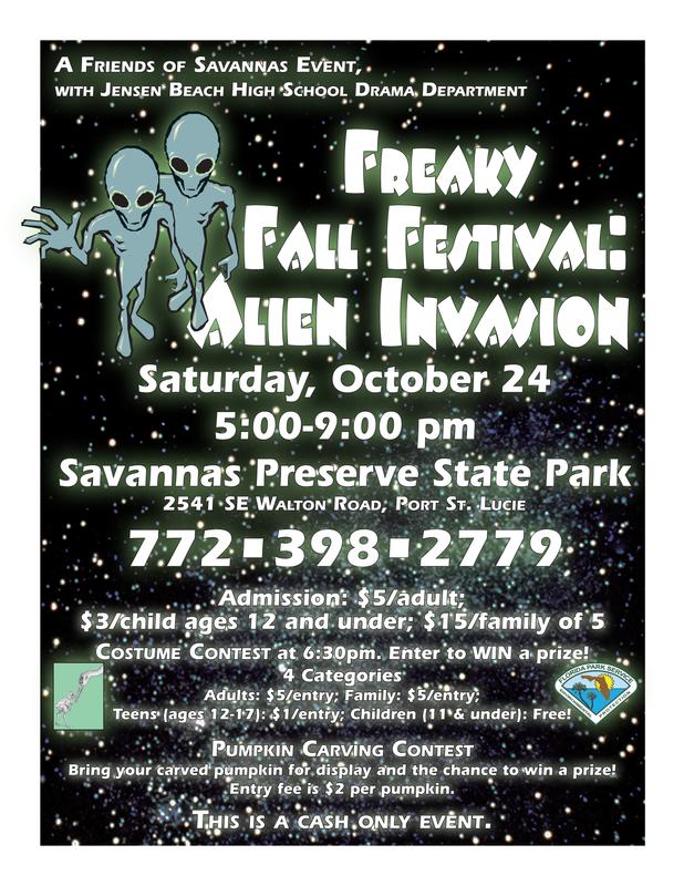 Freaky Fall Festival Savannas Preserve State Park
