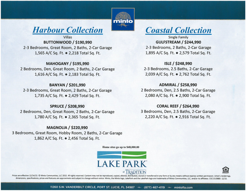 Home Prices in Lake Park Tradition